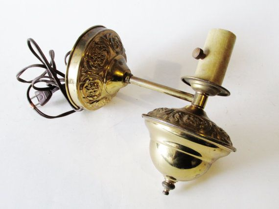 golden wall sconce boho chic vintage sconce 1950u0027s sconce plug in wall