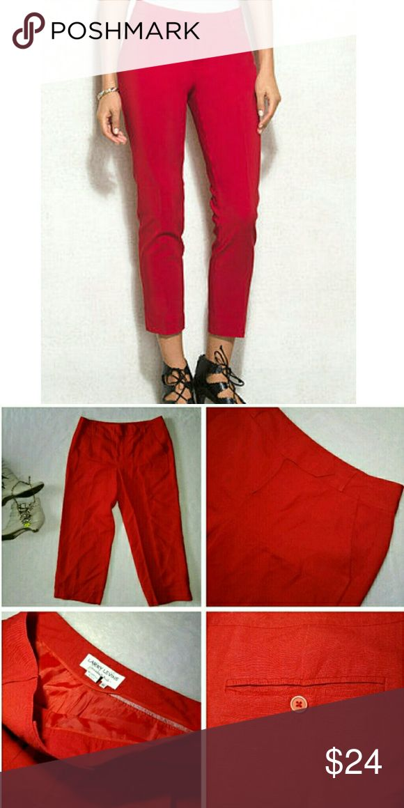 NEW Larry Levine Women's Capri Pants, size 10, red NEW Larry Levine Women's Capri Pants, size 10, red Larry Levine Pants Ankle & Cropped