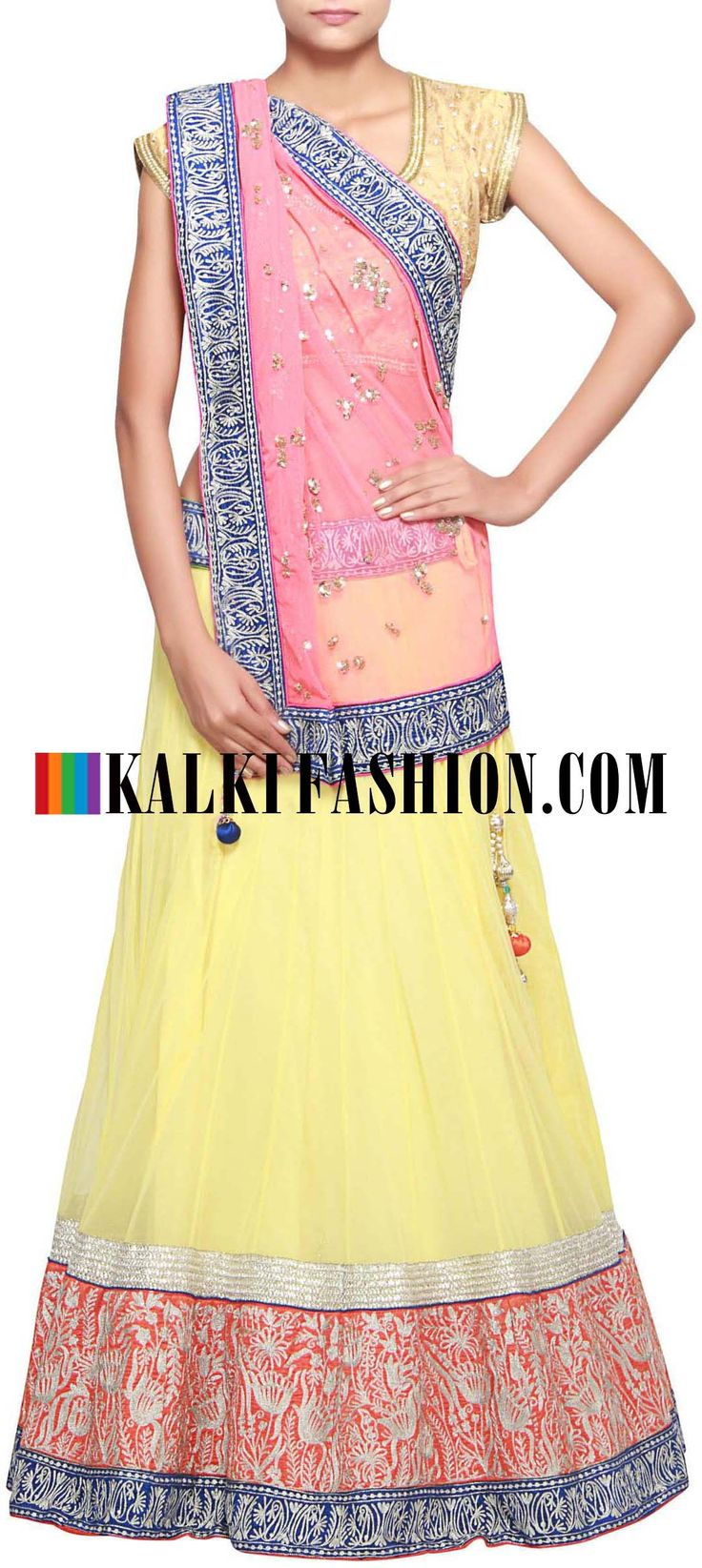 Get this beautiful lehenga here: http://www.kalkifashion.com/pink-lehenga-adorn-in-zari-and-sequence-embroidery-only-on-kalki-12338.html Free shipping worldwide.
