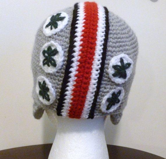 Ohio State Buckeyes Helmet BeanieHatFootballTeam by mamasophs, $30.00