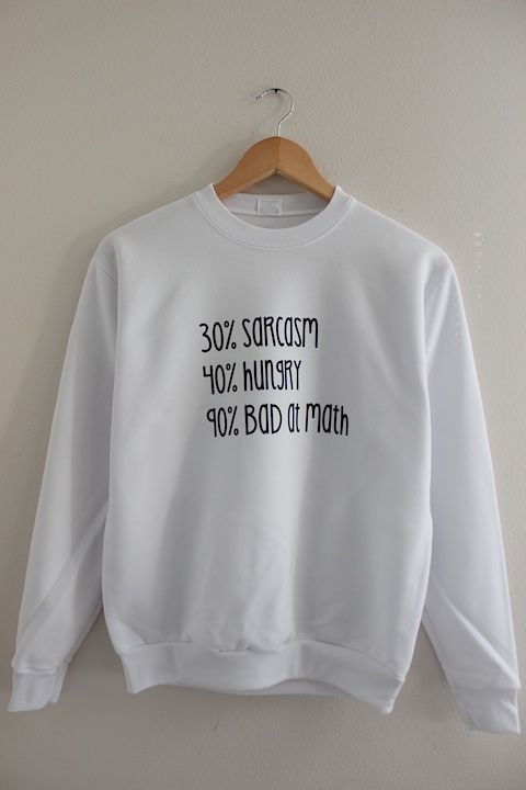 Bad at Math Graphic Crewneck Sweatshirt