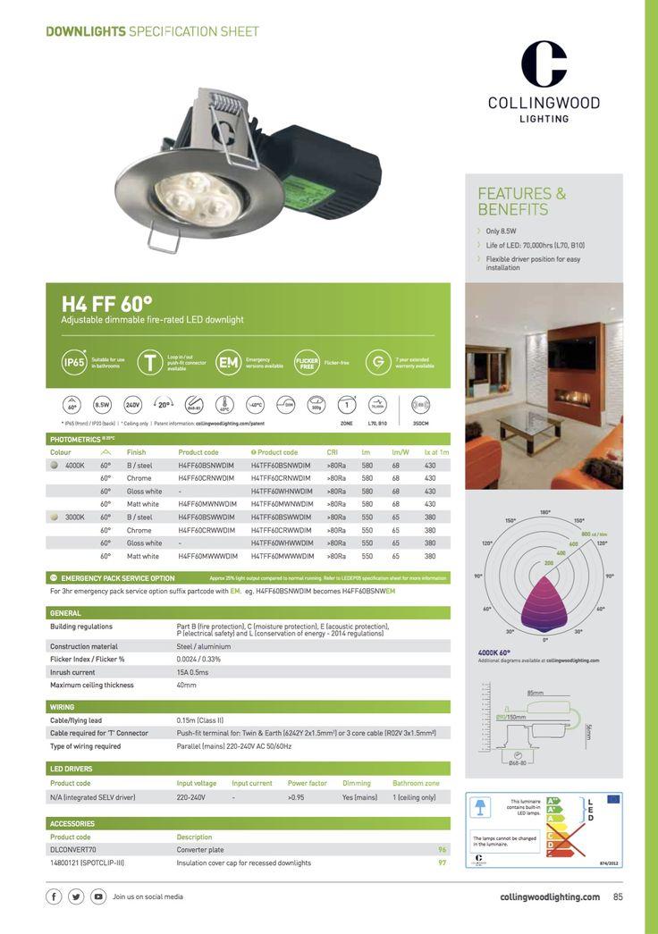 Bathroom downlight 6x £35 Edmundson Electrical Catalogue COLLINGWOOD lighting EDITION 20  sc 1 st  Pinterest & 17 best Selected Lighting Light switches images on Pinterest ... azcodes.com