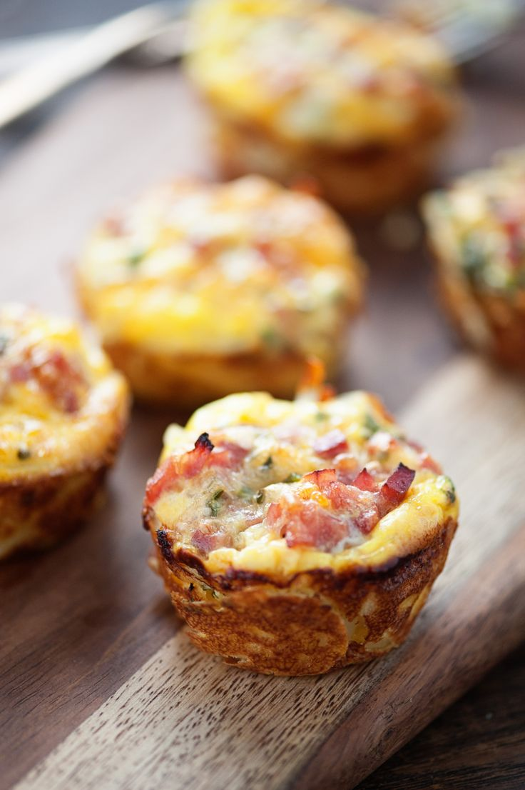 These ham and cheese quiche cups are perfect for a quick healthy on the go breakfast!