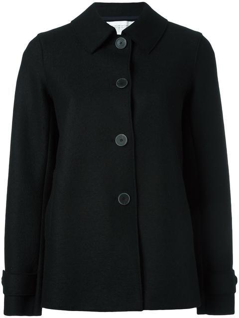 HARRIS WHARF LONDON classic short coat. #harriswharflondon #cloth #coat