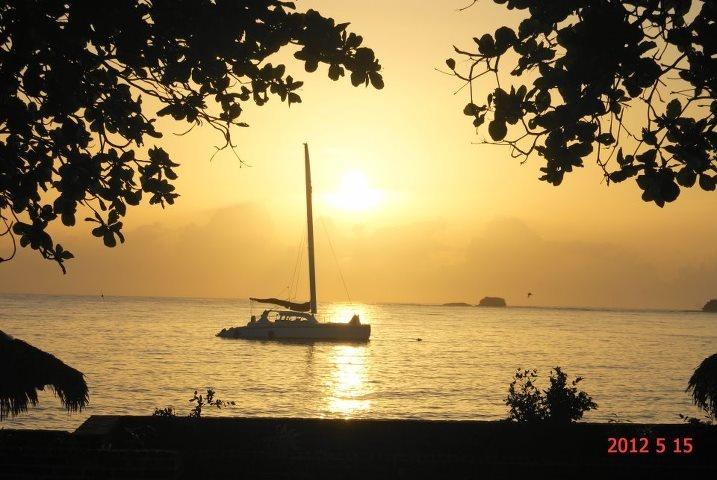 Amazing sunset at Riviera Azul