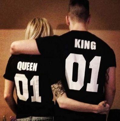 King & Queen Couples Shirt - Hot100Fashions