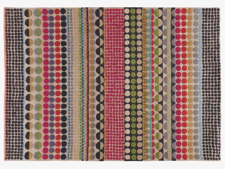 BLOOMSBURY MULTI-COLOURED Wool Large geometric wool rug 170 x 240cm - HabitatUK