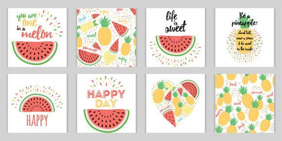 Set of bright fresh fruit images by TatianaKuzmina on @creativemarket