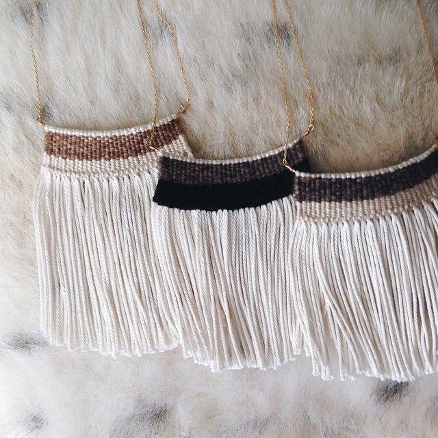 Wide Woven Necklaces | Kari Breitigam