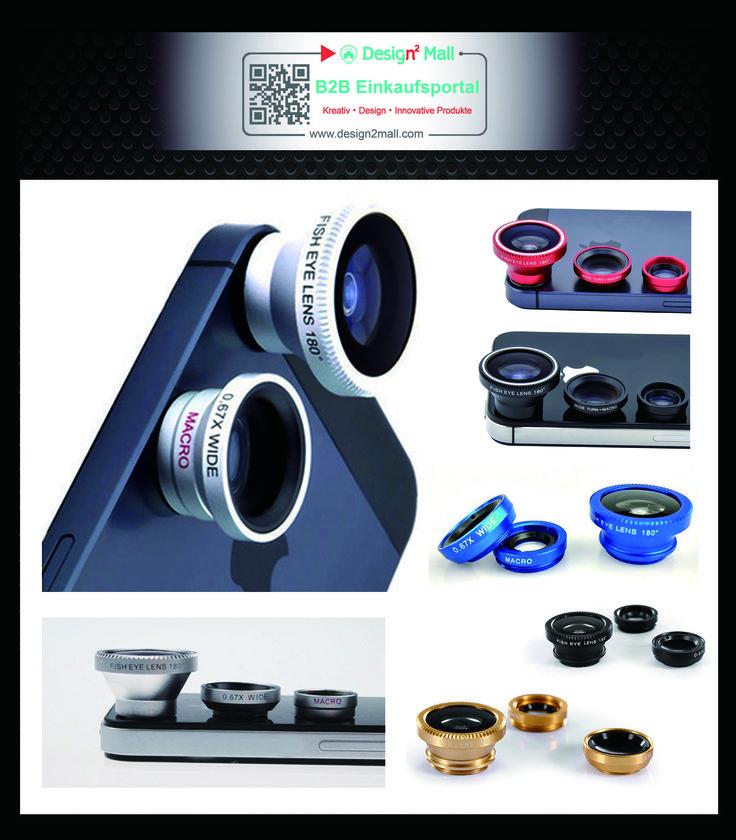 3in1 Handy Kamera Fischauge+Makro+Weitwinkel Objektiv Lens Kit Smartphone