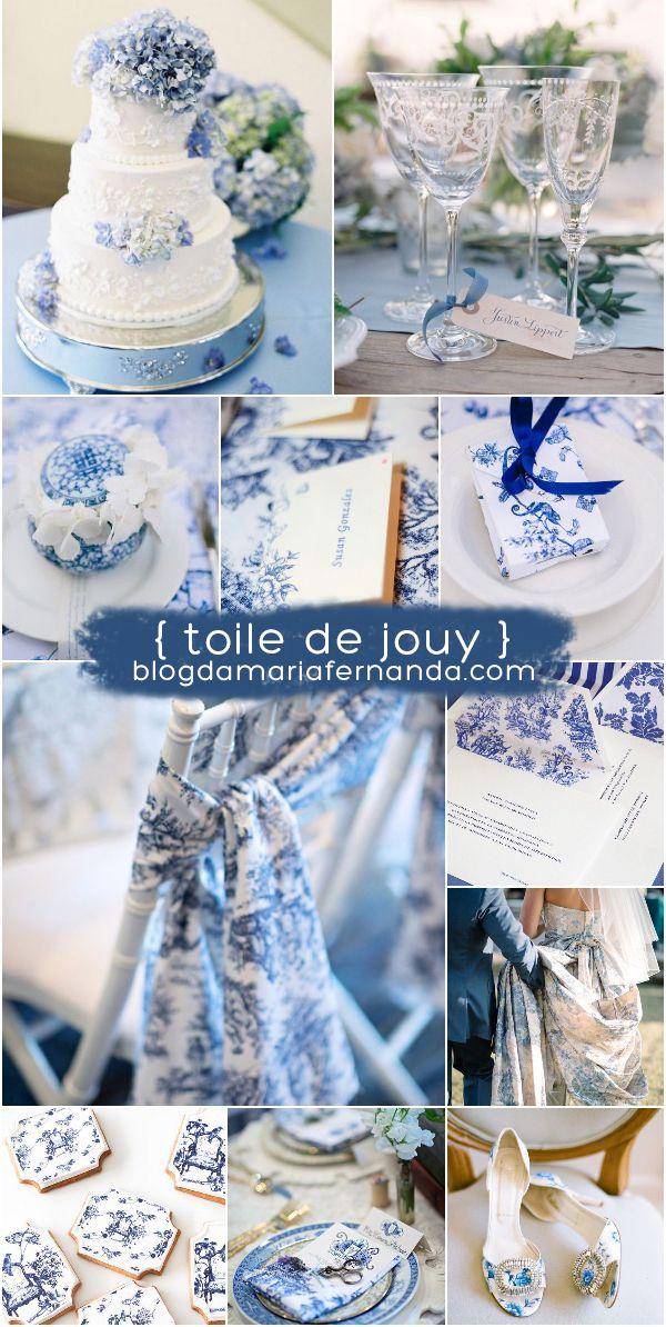 Decoração de Casamento: Toile de Jouy | http://blogdamariafernanda.com/decoracao-de-casamento-toile-de-jouy