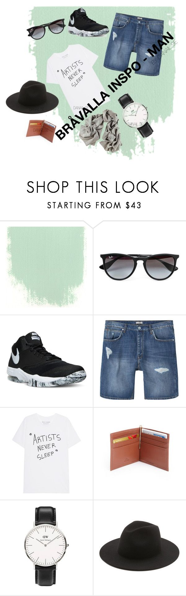 """Bråvalla inspo"" by jonaz-danail-grentzelius on Polyvore featuring Topman, NIKE, MANGO MAN, Royce Leather, Daniel Wellington and Études"