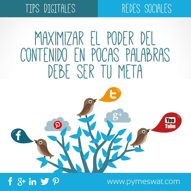 #TipsDigitales El mensaje en tus #RedesSociales debe Simple y directo #SocialMedia #MarketingDigital