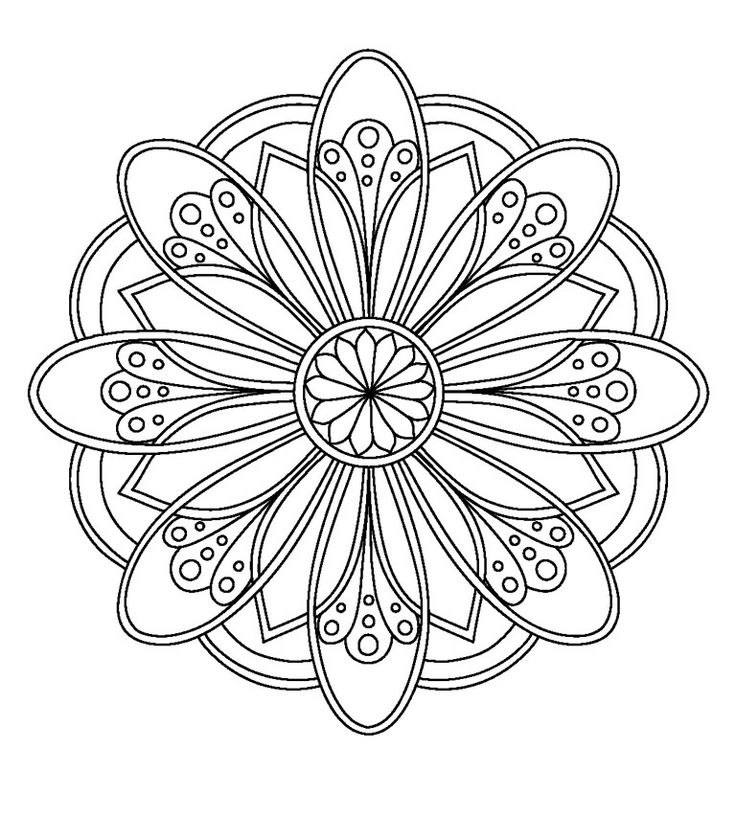 97 best Mandalas images on Pinterest Coloring pages, Coloring