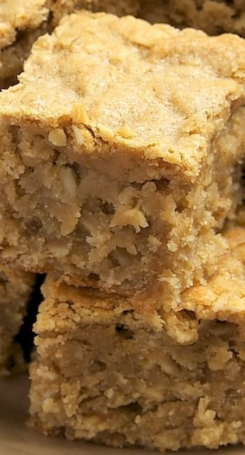 Peanut Butter Banana Bars Recipe ~ They are amazingly dense and moist. Somehow they manage to be bar, cake, and bread all at the same time. From breakfast to late-night snack, these are certainly an anytime treat.