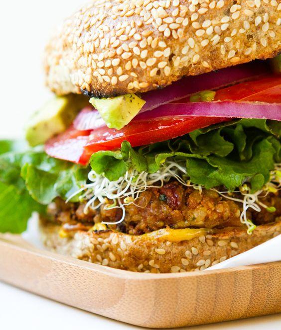 Vegan Spicy Chilli Burgers.