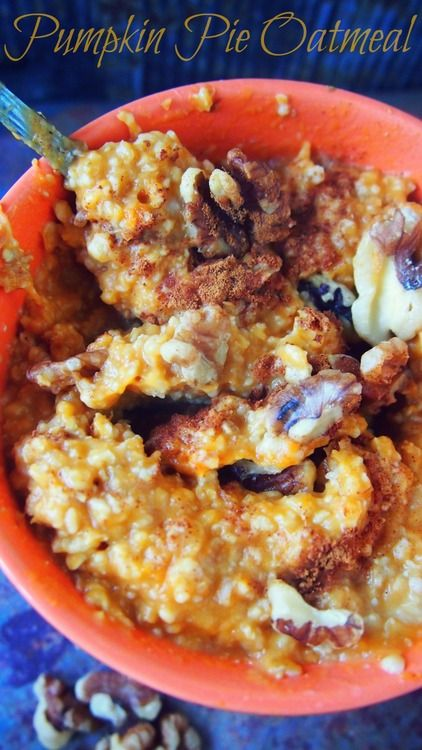 Undressed Skeleton — Healthy Pumpkin Pie Oatmeal made with ...