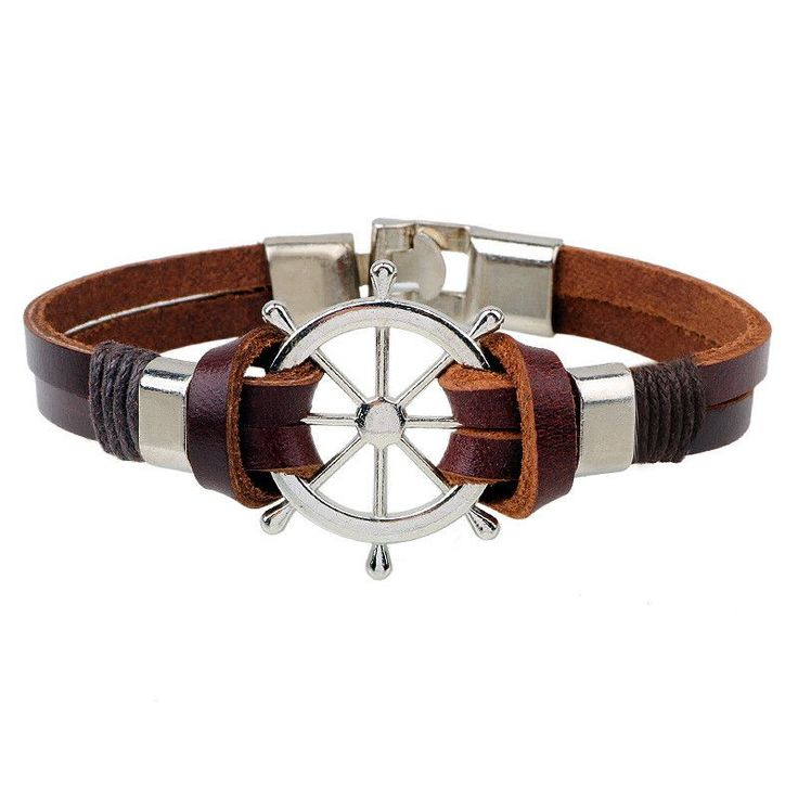 Sea Navigation Rudder Anchor Leather Bracelet. Especially for those who travel a lot, this symbol can have a very special meaning. Those who have had a tumultuous past, the anchor is a pledge to move on and have a better, brighter, grounded future. In this case, some people choose to wear a cracked or broken anchor, as a sign they are letting go of their inhibiting ways and moving forward.Early Origins of the Anchor SymbolOriginally, the anchor symbol was not used by those on the water…