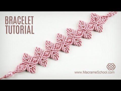 Flower Petal Bracelet Tutorial in Vintage Style   Macrame School - YouTube