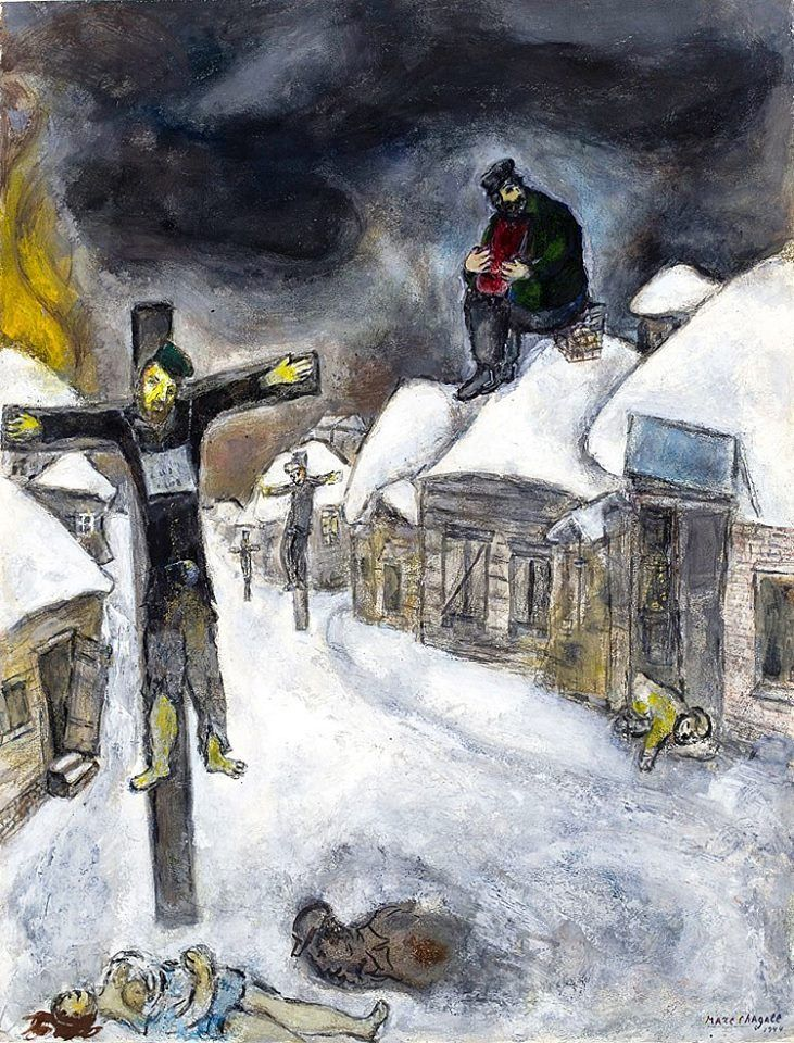 643 best Expressionism: Chagall/Klee/Miro/Modigliani/Munch ... Marc Chagall White Crucifixion Poem