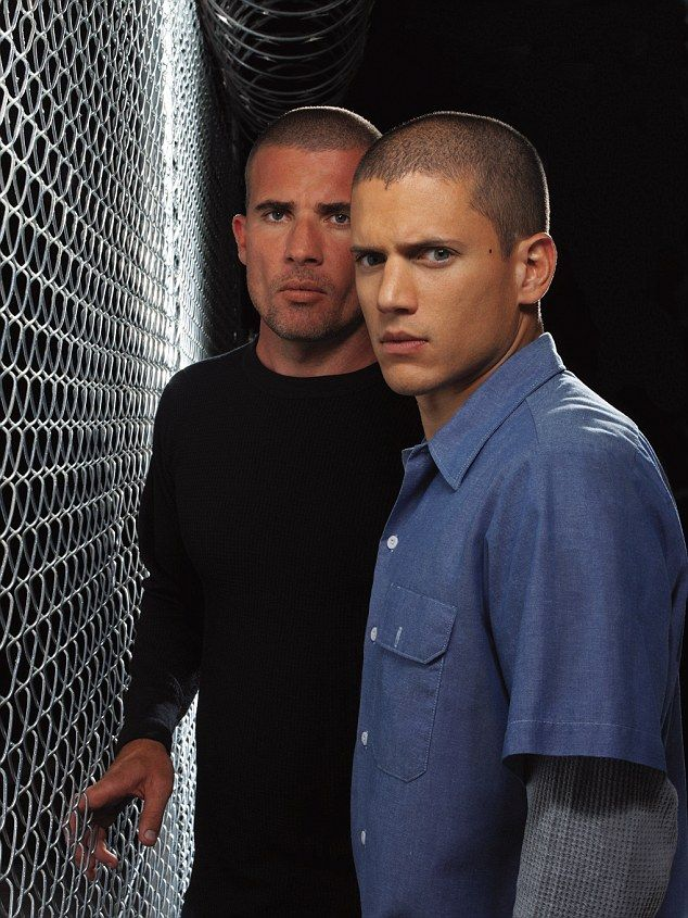 Reunited: Wentworth and his Prison Break co-star Dominic Purcell has joined The Flash cast...