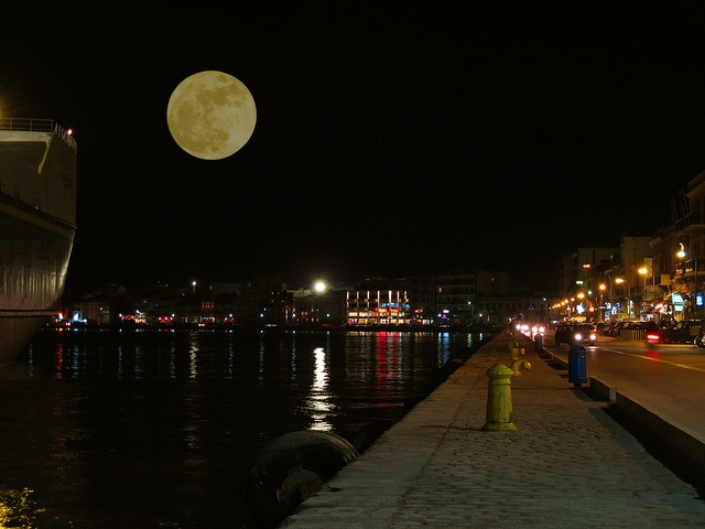 Chios Island by night ! by leniaz, via Flickr