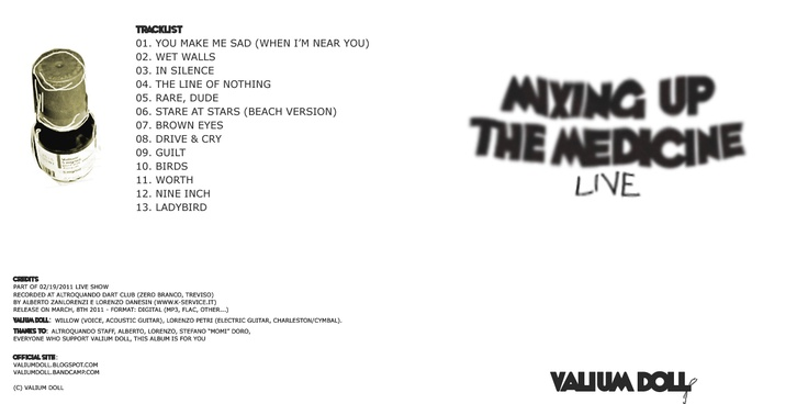 """""""Mixing Up The Medicine"""" cover  http://valiumdoll.bandcamp.com/"""
