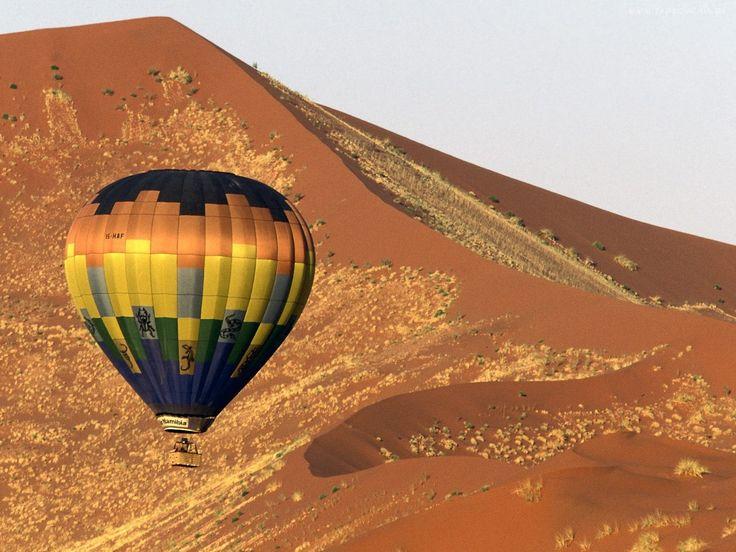 Lot, Balonem, Pustynia, Namibia