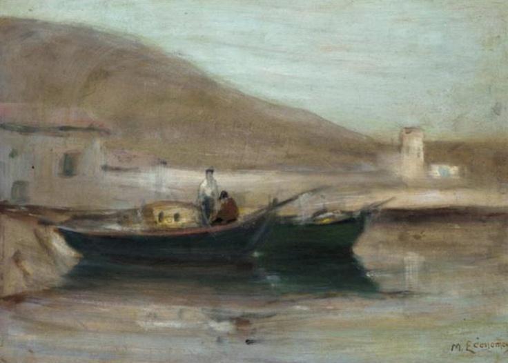 Οικονόμου Μιχάλης-Boat by the shore