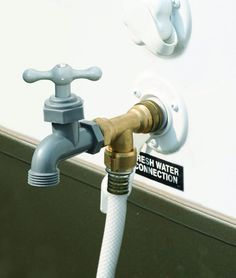 Why the heck didn't I think of this? Provide your RV with an extra outside water faucet   RV Travel