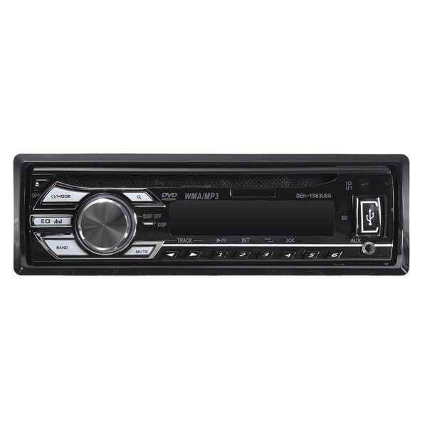 Bluetooth Coche In Dash Estereo Radio Unidad principal Reproductor de DVD MP3 WMA USB AUX SD FM