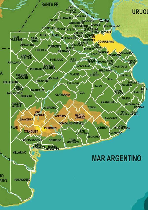 Mapa de Provincia de Buenos Aires, Argentina