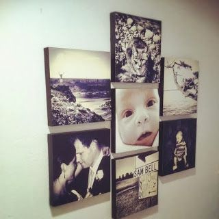 DIY canvas picture wall