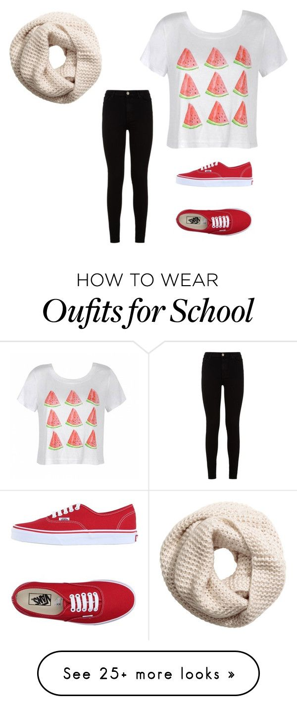 """Back to school "" by livelovepop on Polyvore featuring Ally Fashion, H&M, 7 For All Mankind and Vans"
