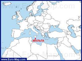 Остров Мальта на карте мира