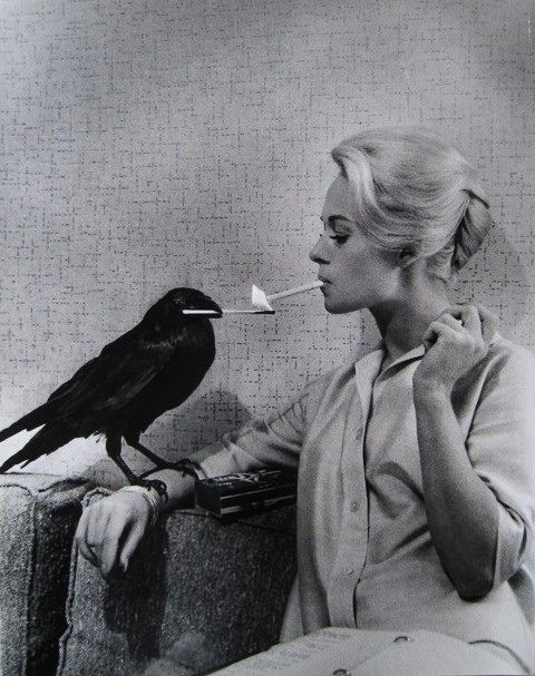 Tippi Hedren taking a cigarette break with a friend! #photography