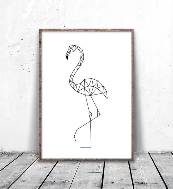 Flamingo Print, Flamingo Art, Geometric Animals, Flamingo Printable, Geometric…