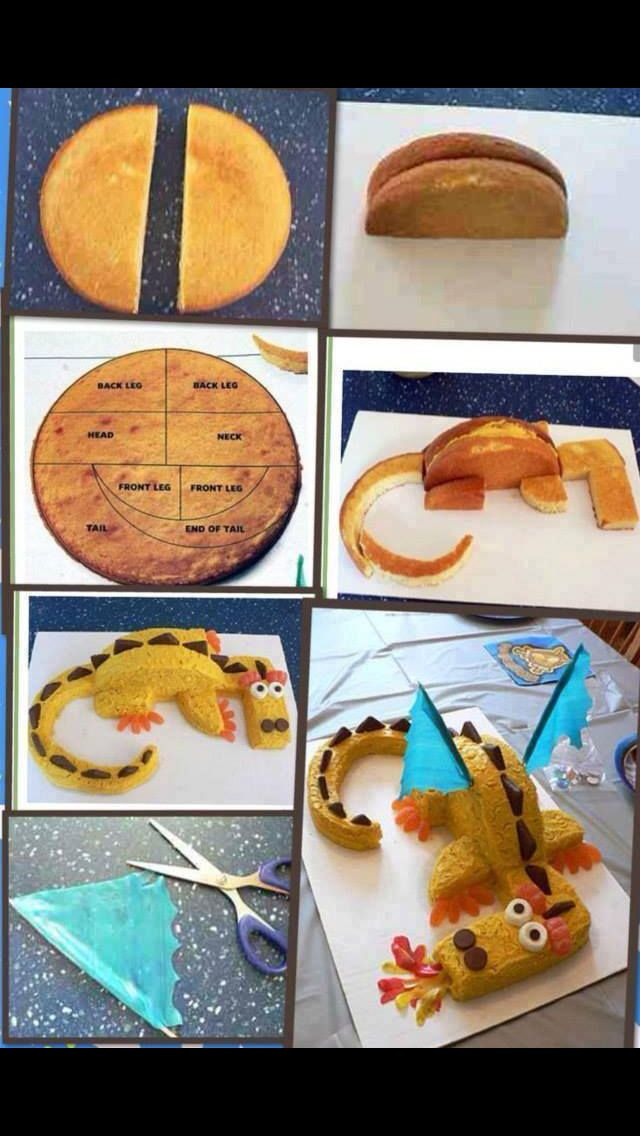 Simple dragon cake