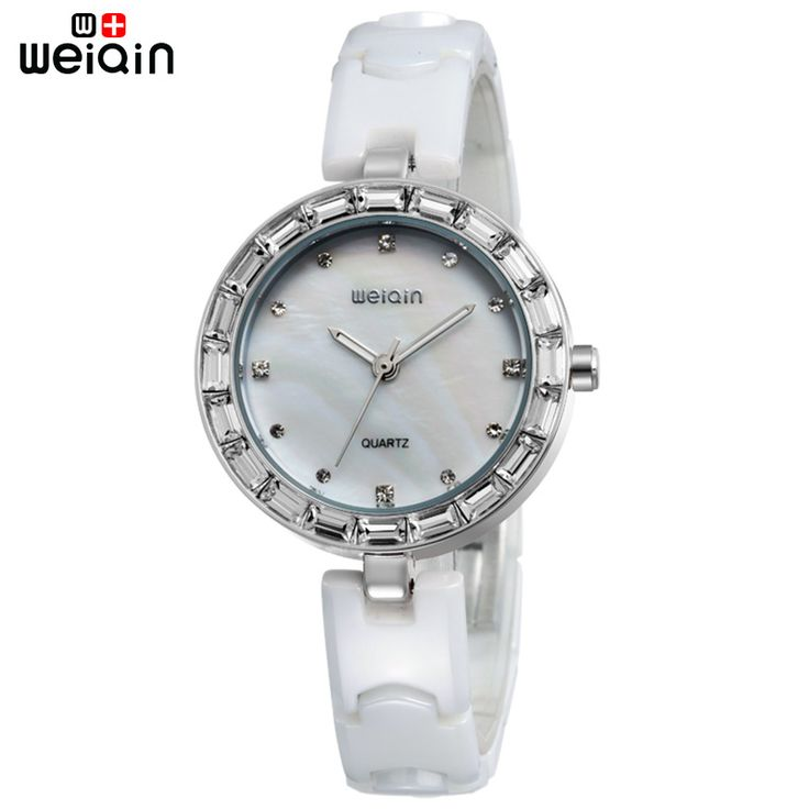 WEIQIN Original Shell Dial Crystal Diamond Watch For Women Outdoor Elegant Ceramic Band Ladies Wristwatch Beautiful Montre Femme-in Women's Watches from Watches on Aliexpress.com | Alibaba Group