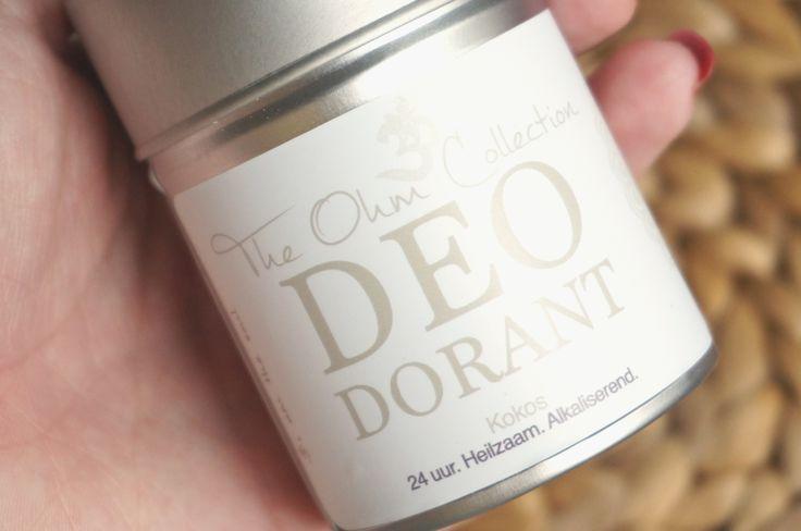 Leuke review over The Ohm Collection's natuurlijke deodorant!