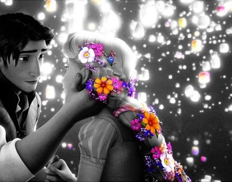 Love this! Rupunzel and Flynn Rider. that look!! omg im going to melt ^_^ i cant wait tell someone looks at me like that