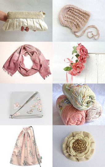 Just beautiful. A treasury of pretty soft spring items by Jennifer Ross on Etsy.