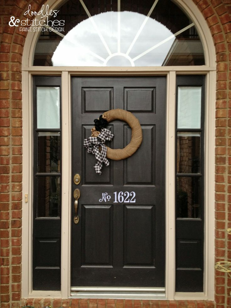 Love this look... Door Numbers  font and project directions