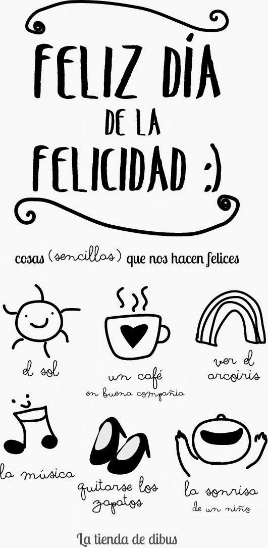dibucos: Cosas sencillas que nos hacen sentir felices. ¡Feliz día de la felicidad!