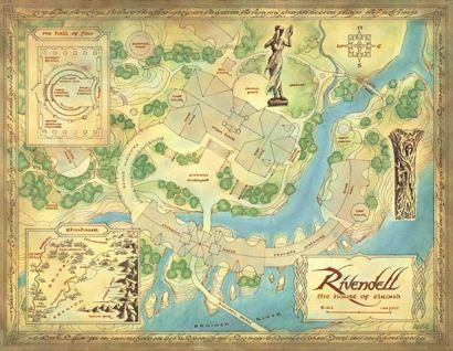 Map Of Rivendell Click For Larger View Middle Earth