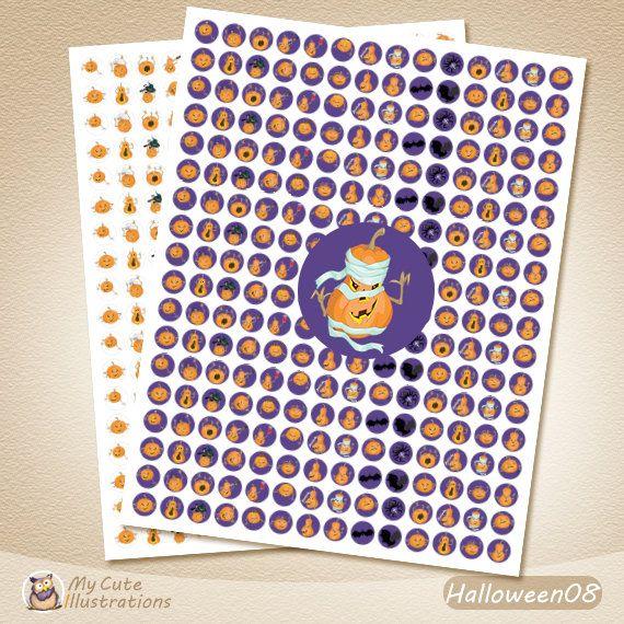 Halloween planner stickers, Pumpkin Stickers, Organizer, Planner, Diary, DIY Stickers, Scrapbook, Notebook