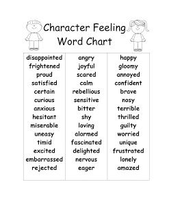 Adventures of Teaching: Updated Character Feelings Word Chart!