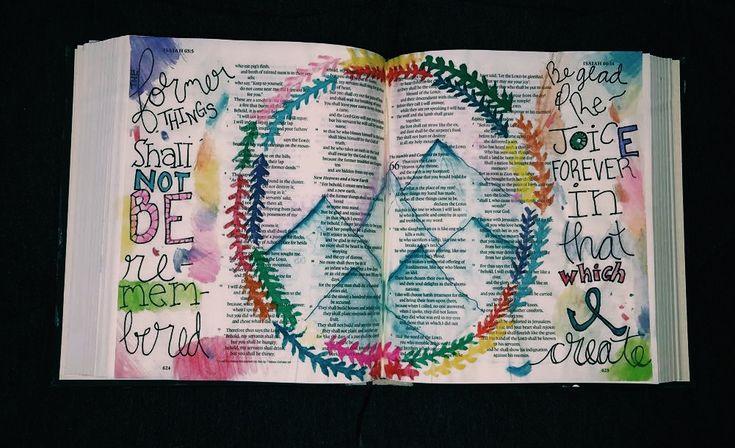 Isaiah 65. Bible journaling. Hosanna revival bible