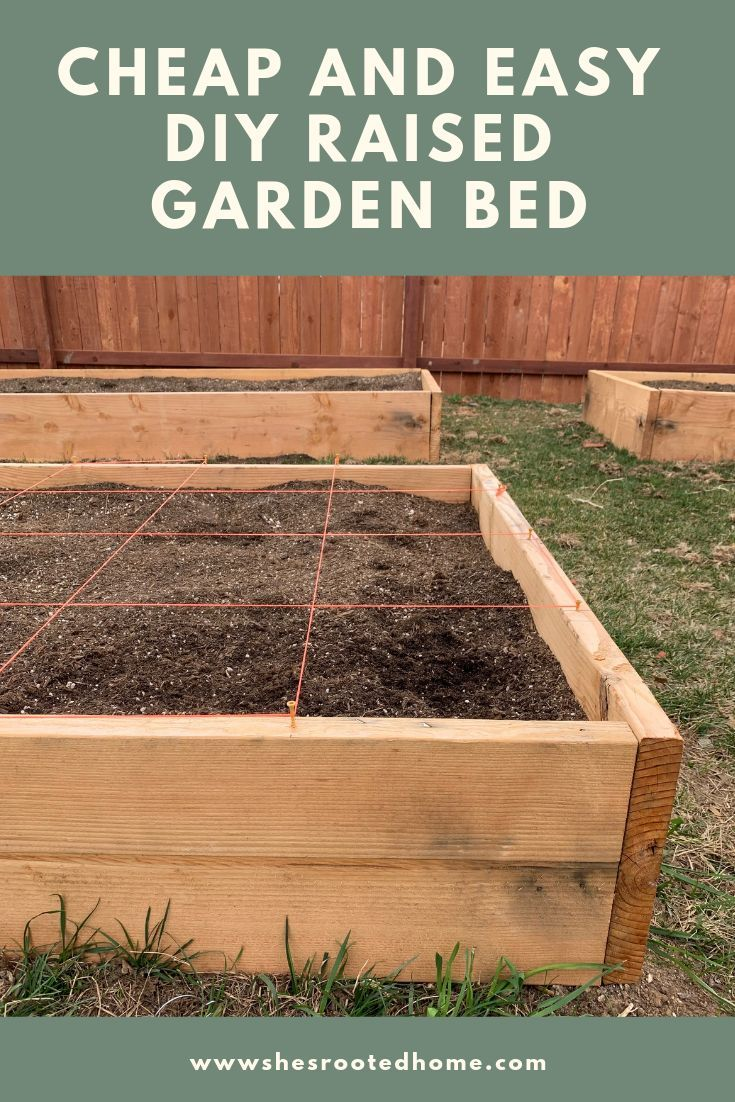 Cheap Easy Diy Raised Bed Garden With Images Raised Garden