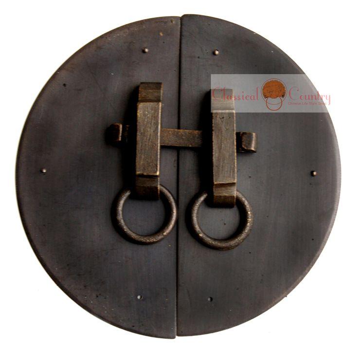 Meubles chinois ferrures en laiton porte de l'armoire de verrouillage visage plaque de porte tirer la poignée de cuivre 16 cm(China (Mainland))